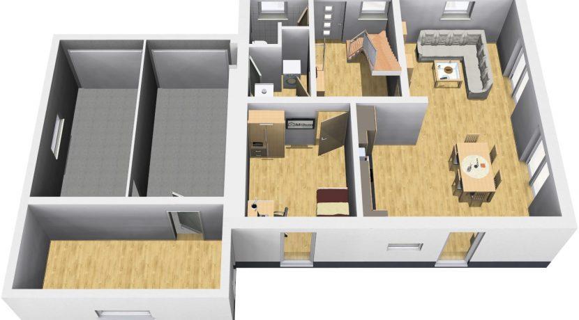 Classico135SD+Ga45_Bauantrag_Ansichten_EG-Terrasse