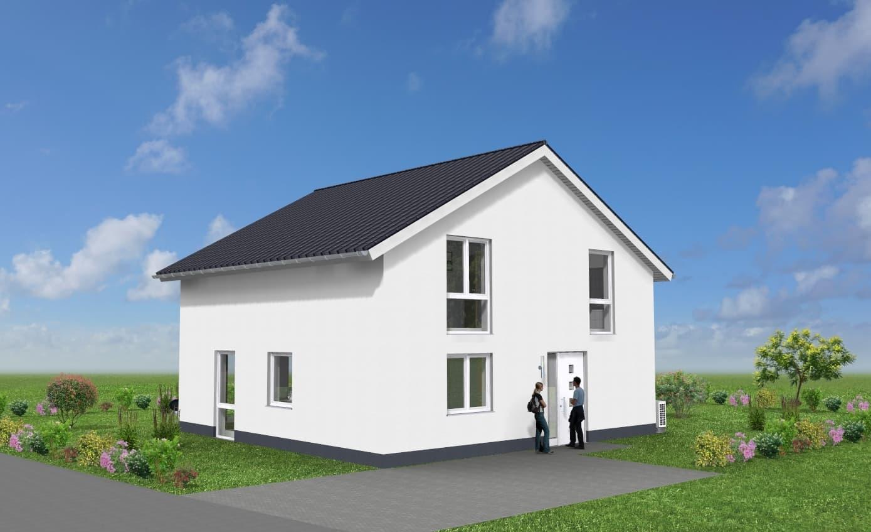 Einfamilienhaus mit modernem Satteldach auf hohem Kniestock in 35410 Hungen OT Bellersheim