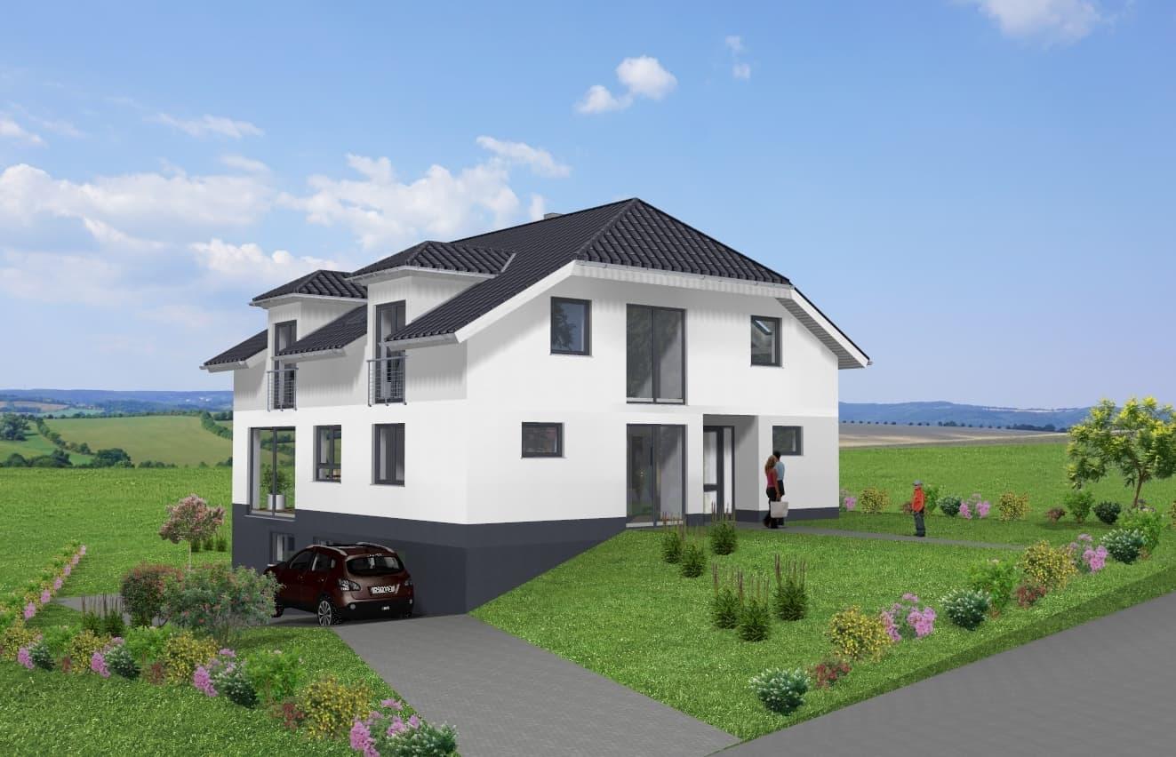 Modernes Einfamilienhaus mit Krüppelwalmdach in 99880 Waltershausen